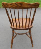 SOLD - Set of Ten Elm & Beech Windsor Style Kitchen Chairs
